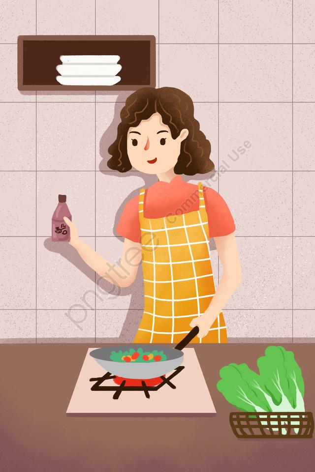 Ilustrasi Tangan Yang Digambarkan Memasak Nasi Masakan Ilustrasi Dapur Kehidupan Di Rumah Gambar Ilustrasi Pada Pngtree Royalti Percuma
