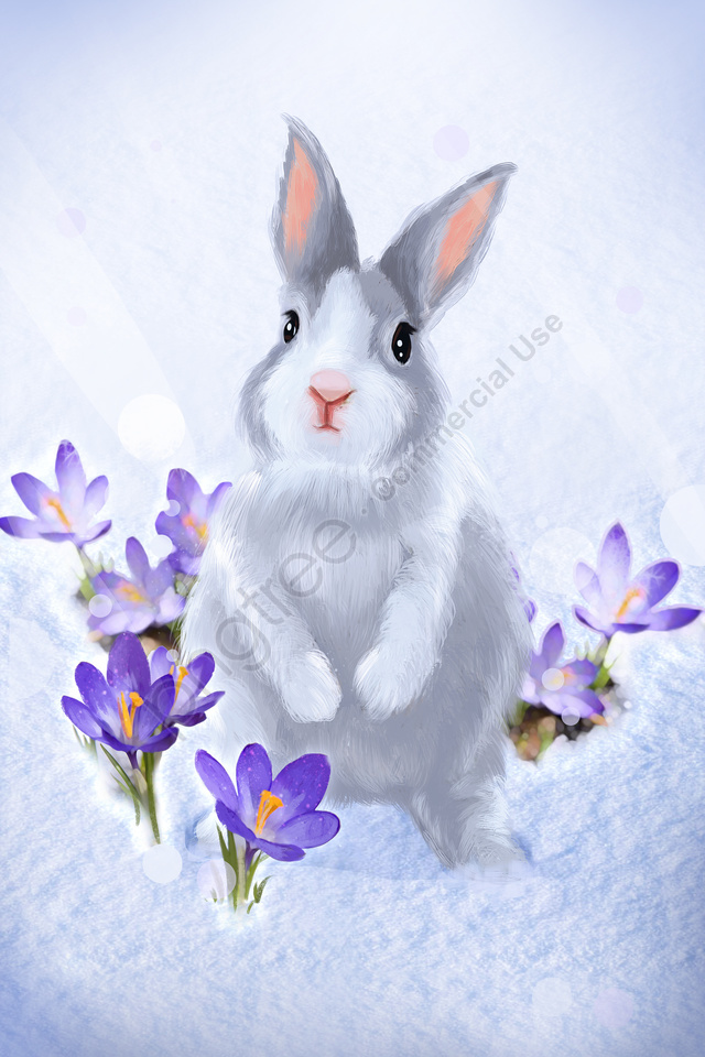 hand painted illustration cure meng, Pet, Animal, Hair llustration image