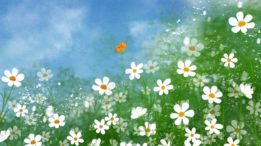 手描きのイラスト花花, 植物, フラワーズ, 小さなワイルドフラワー llustration image