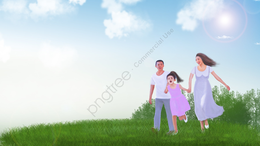 harmonious family mom and dad a family of three happy family, Parent Child Tour, Family Wallpaper, Parent Child Wallpaper llustration image