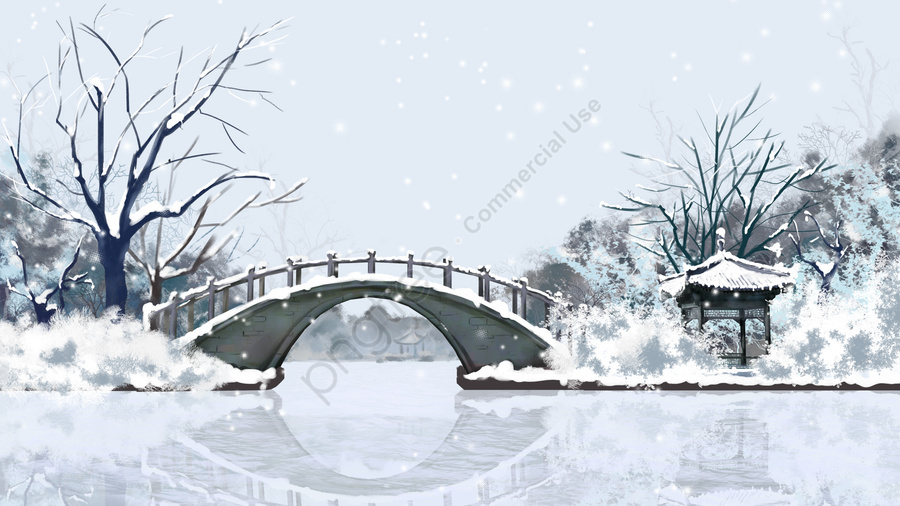 大雪祭りソーラー用語24ソーラー用語, 修, 冬至, 雪景色 llustration image