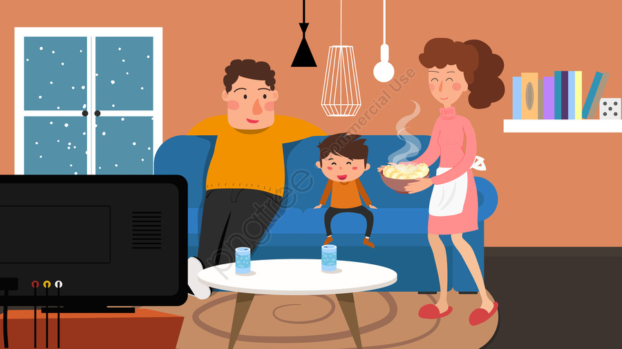 home furniture home life family life, Lifestyle, Illustration, Parent Child llustration image