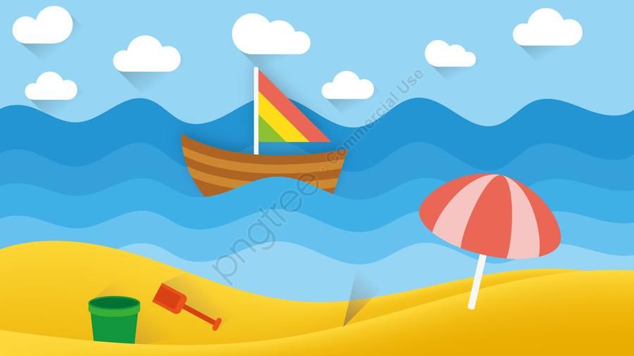 그림 해변 엔터테인먼트 풍경 해변 해변 휴가, 해변 오락, 해변 풍경, 경관 삽화 llustration image