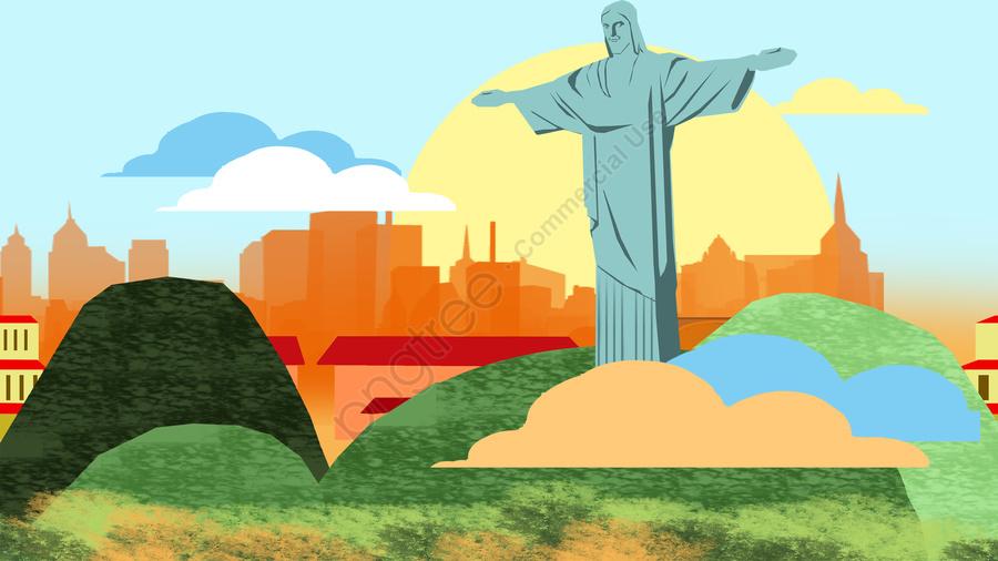 그림 건물 유명한 기능, 표지, 관광, 풍경 llustration image