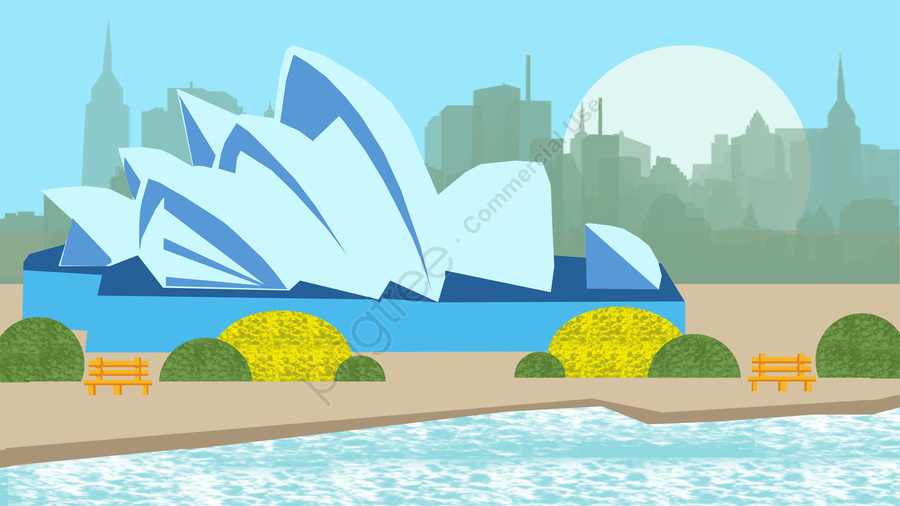 Illustration Building Famous Features, Landmark, Tourism, Scenery llustration image