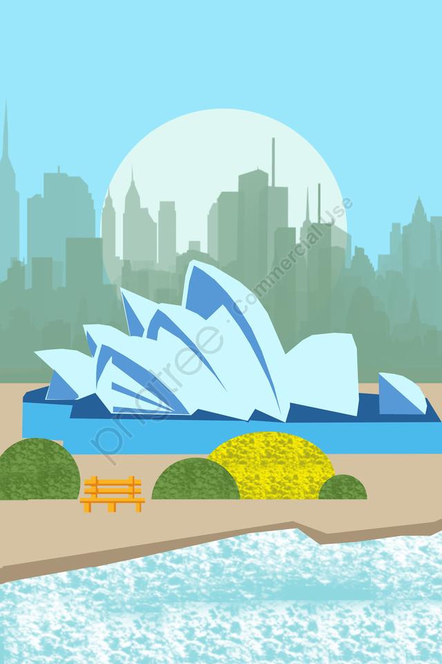 Illustration Building Famous Features, Landmark, Tourism, Scenery llustration image