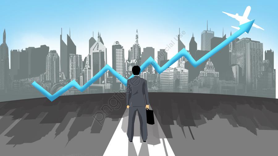 illustration business flat financial, Arrow, White Collar, City llustration image