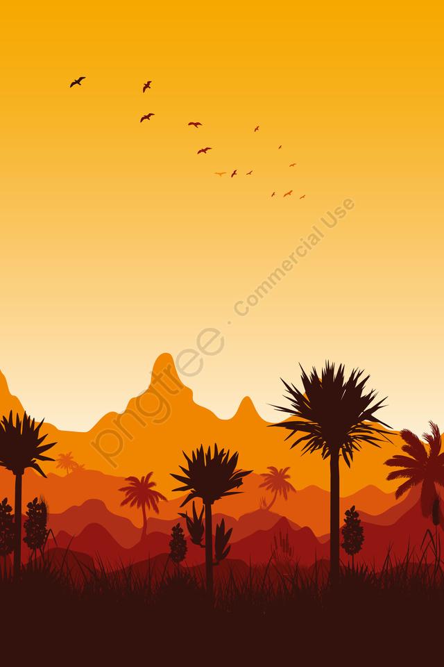 Minh Họa Buổi Tối Xem Phong Cảnh Buổi Tối, Khung Cảnh, Phong Cảnh, Tranh Phong Cảnh llustration image