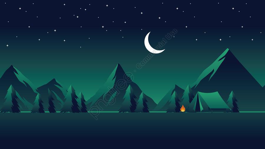 चित्रण क्षेत्र रात परिदृश्य, रात के दृश्य, तारों से आकाश, जंगली तारों वाला आकाश llustration image