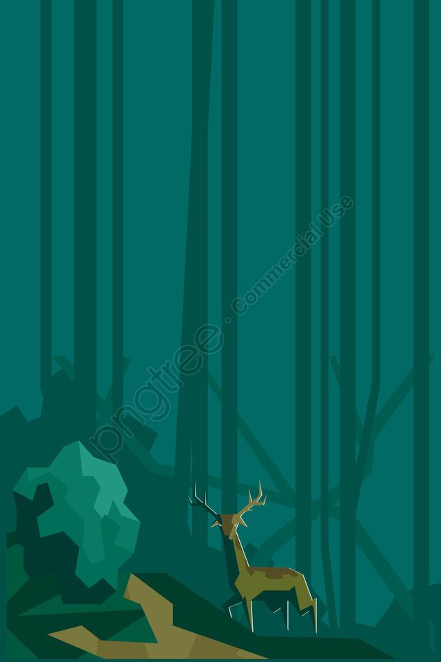 그림 숲 동물 사슴 풍경, 삼림, 동물, 필드 llustration image