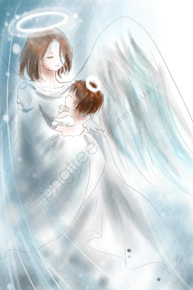 イラスト母の日母性愛天使, 新鮮, 展示板, ポスター llustration image