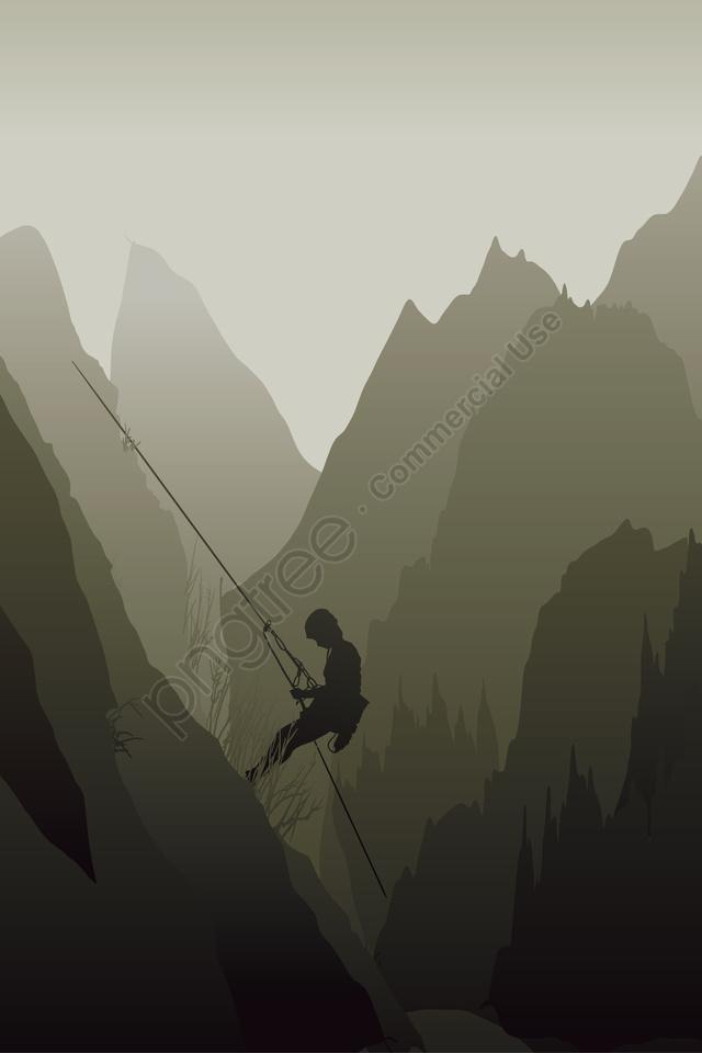 図登山ロッククライミングアウトドアスポーツ, モーション, クライミングフィギュア, ロッククライマー llustration image