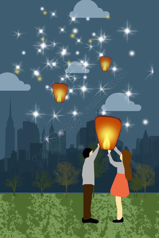 Illustration Night Starry Sky Summer Night, Beautiful, Flat, Star llustration image