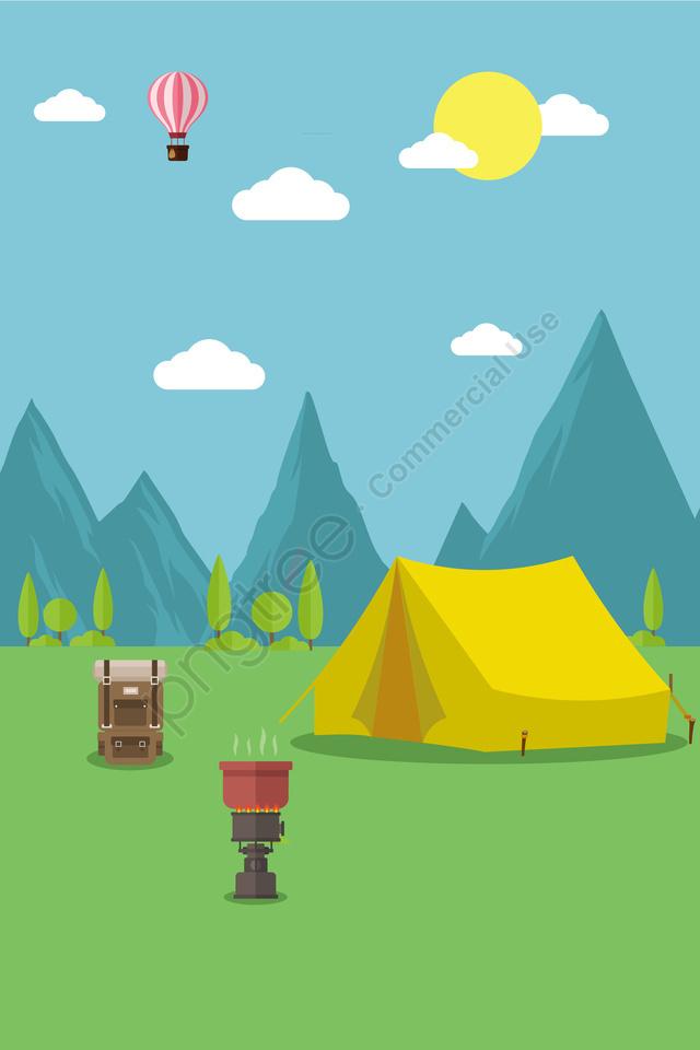 イラスト屋外旅行キャンプ, 屋外キャンプ, 夏, キャンプ食品 llustration image