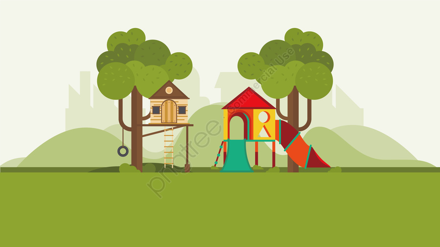 illustration park children entertainment landscape, イラスト, 公園の子供たち, エンターテイメント llustration image