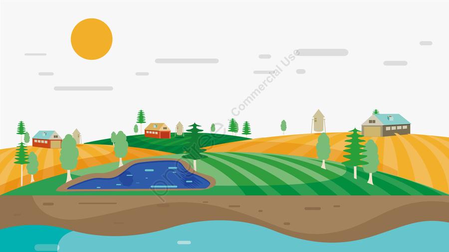 例證農村風景場面例證風景例證, 秋天, 秋收插畫, 秋景 llustration image