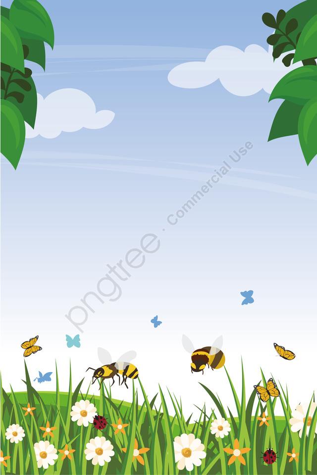 그림 여름 꽃과 식물 동물 풍경, 꽃, 여름 식물, 공장 llustration image