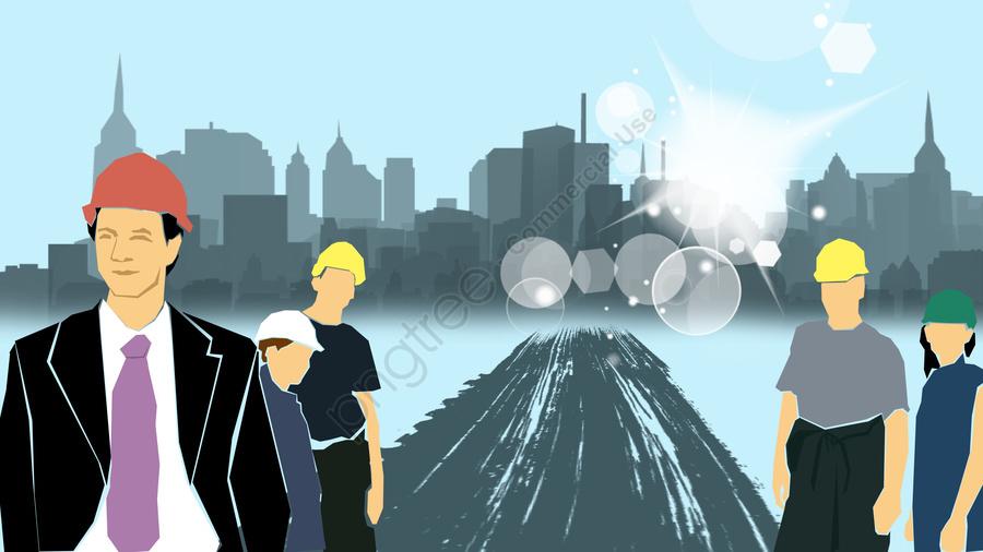 Equipe De Ilustração Plana, Simples, Business, Equipe De Construção llustration image
