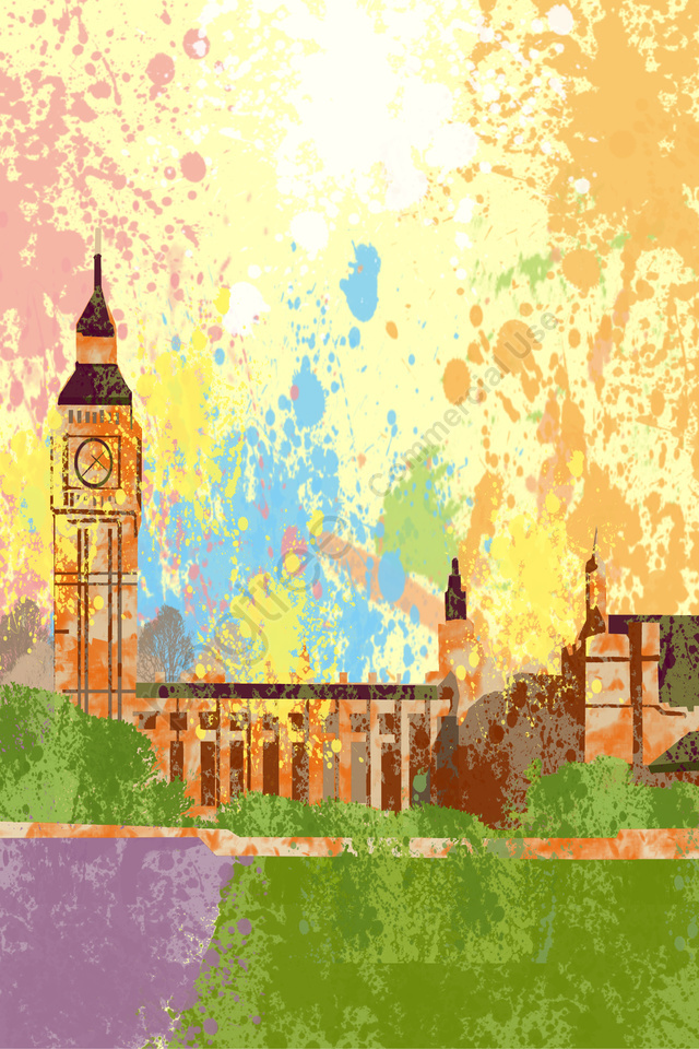 illustration united states harvard university building, Attractions, Classical, Clock Tower llustration image