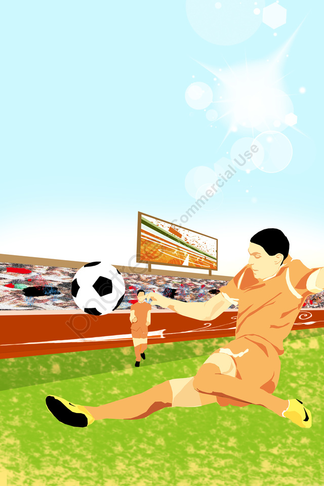 イラストワールドカップサッカー選手, 草原, 観客, スタンド llustration image