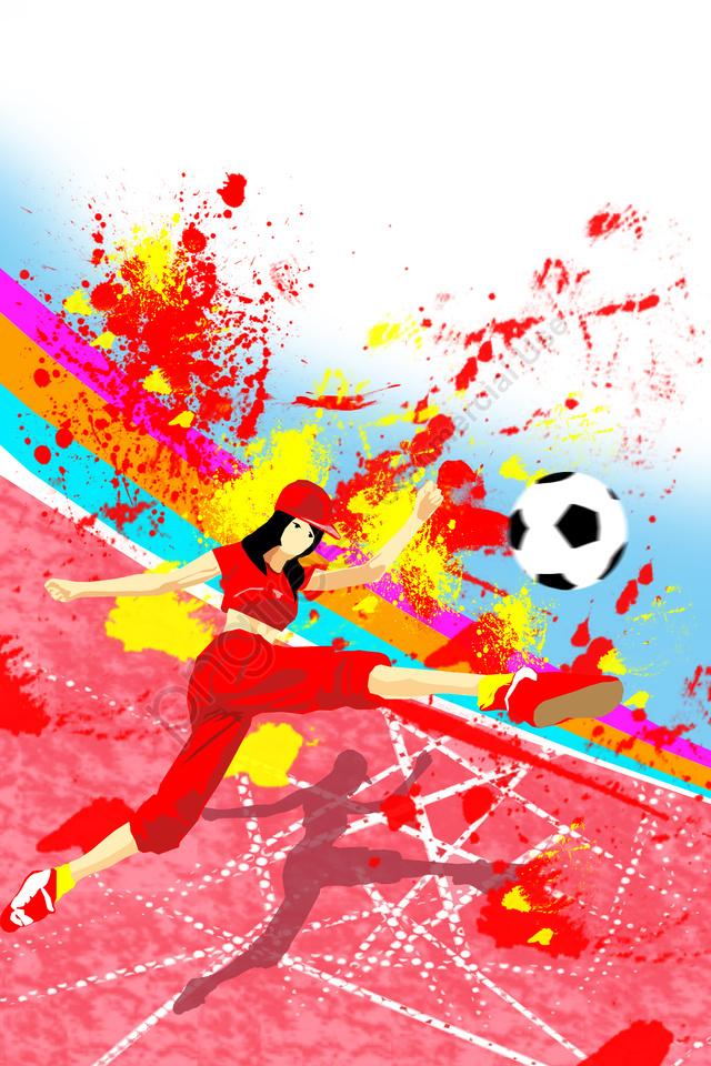 イラストワールドカップサッカーモーション, フラット, アスリート, あたたかい llustration image