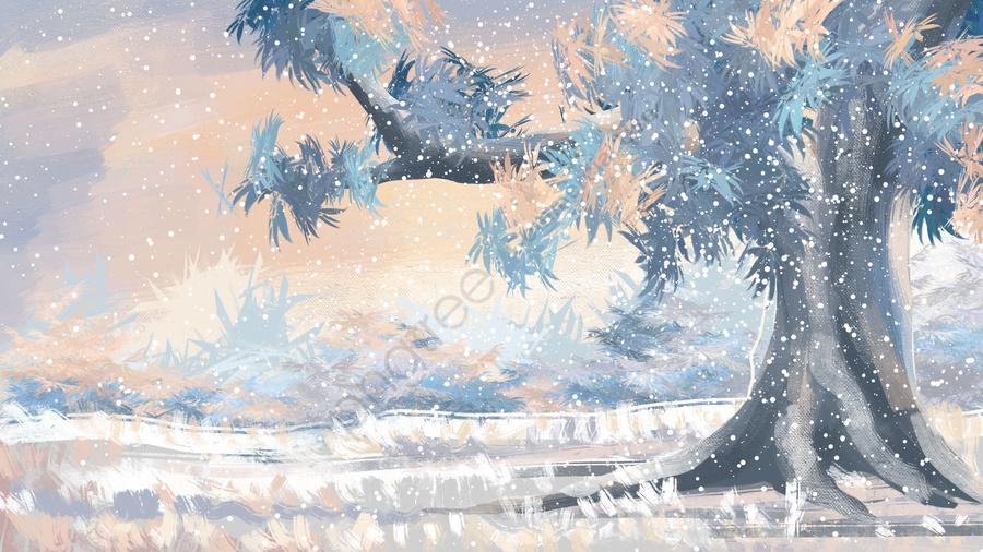 겨울 겨울 겨울 풍경으로, 자유형 경관, 경관 배경, 첫 눈 llustration image