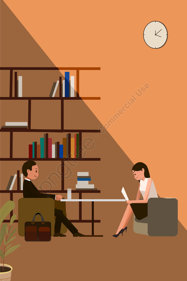 job hunting recruitment interview calm, Warm Color, Calm, Tone llustration image