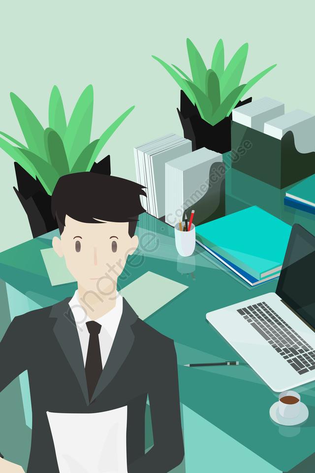 仕事エンタープライズビジネス男男, スーツ, 自信, デスクトップ llustration image