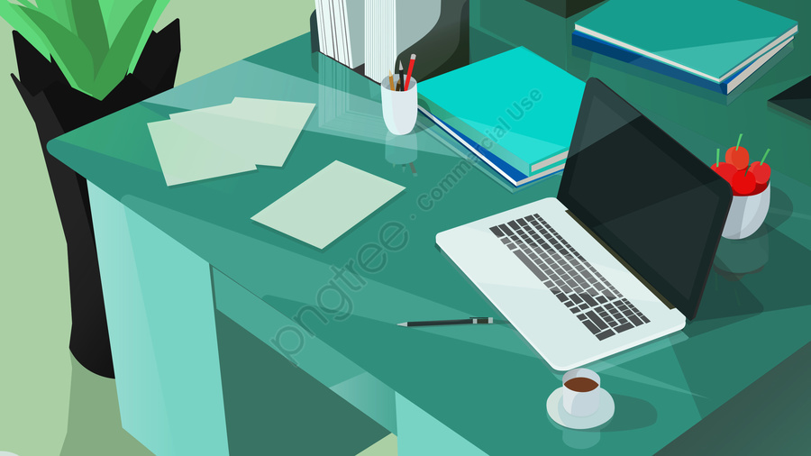 jobs office laptop table, 事業所イラスト背景, 仕事, 事務所 llustration image