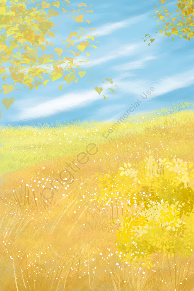 landscape illustration background fall, Autumn Color, Autumn Wind, Golden Autumn llustration image