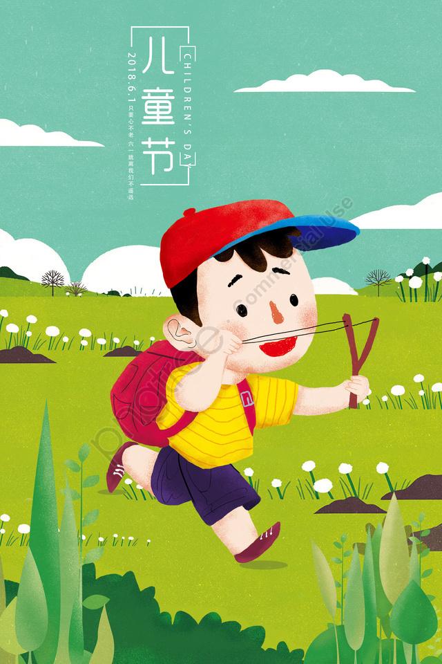 little boy illustration sky cloud, Plant, Flower, Hat llustration image