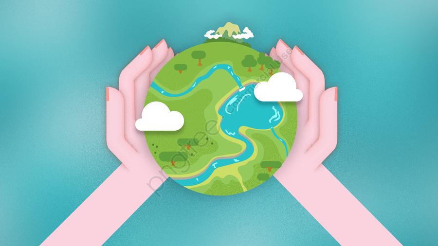 Tình Yêu Xung Quanh Trái đất Xanh, Bảo Vệ Môi Trường, Lính Gác., Ô Nhiễm llustration image