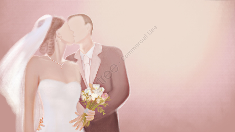marry wedding kiss lovers, カップル、新婚、愛、キス、閉じる、ロマンチックな、美しい、結婚、結婚式、恋人 llustration image