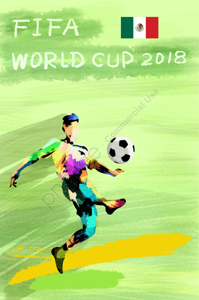 メキシコサッカーワールドカップ2018, Fifa, アスリート, プレイヤー llustration image