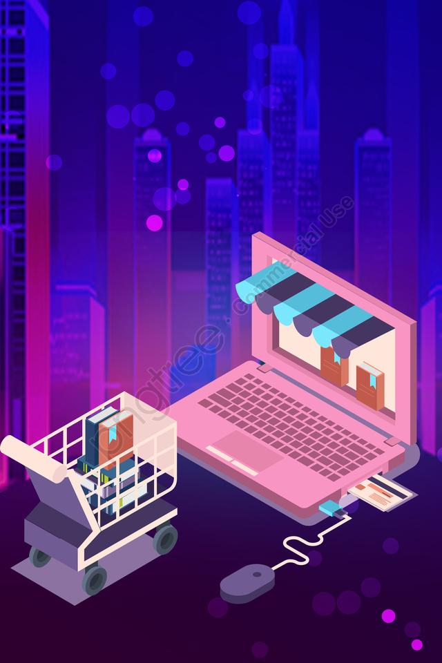 Magasin Microscopique 2 5d Dégradé Violet, Business, Atmosphère, Cool llustration image