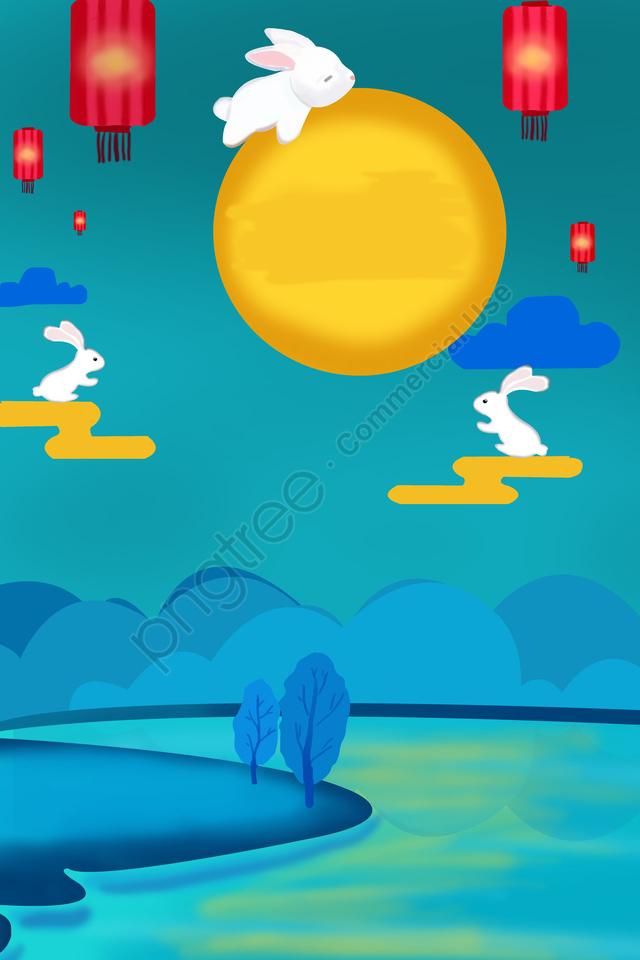 Pertengahan Musim Luruh Festival Arnab Kelinci Arnab Bulan, Festival, Perayaan Tradisional, Pertengahan Musim Luruh llustration image