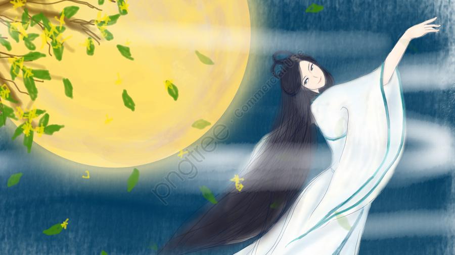 中秋節插圖月亮中秋節, 8月15日, 歸書, 應用程序 llustration image