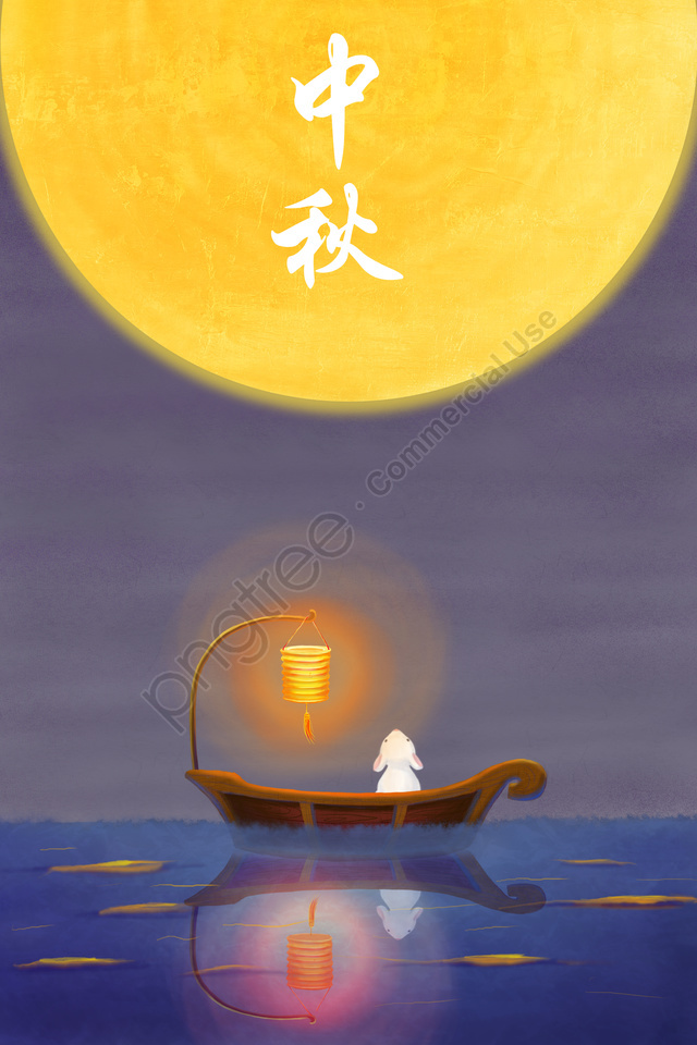 Pertengahan Musim Luruh Pertengahan Musim Luruh Festival Arnab Jed Bulanan, Lantern, Moon, 15 Agustus llustration image