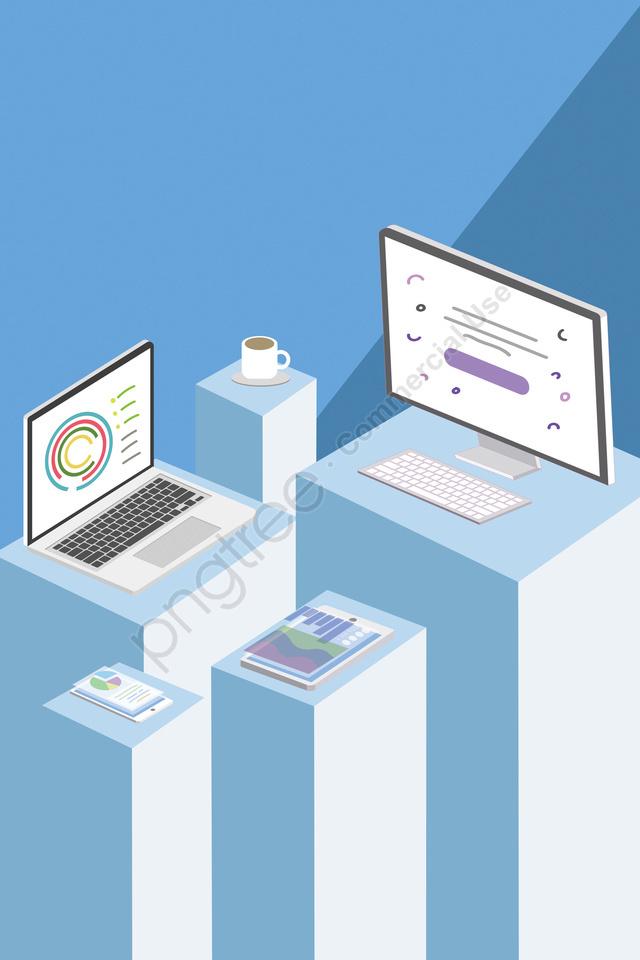 мобильный телефон компьютер с плоским Wifi, ноутбук, рабочий стол, технологии llustration image