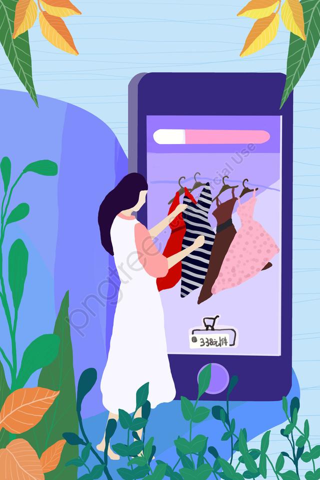 ручная роспись, девочка, супермаркет, цветы llustration image