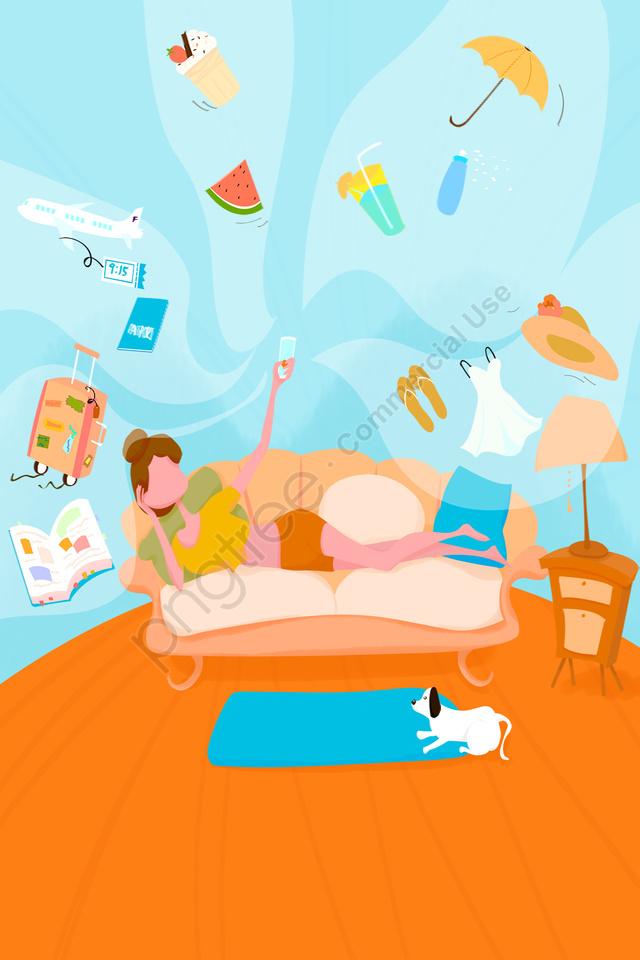 тема мобильного телефона, щенок, домой, диван llustration image