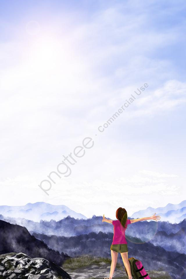 mountaineering tourism lookout walker, 登山, 旅行する, 見張り llustration image