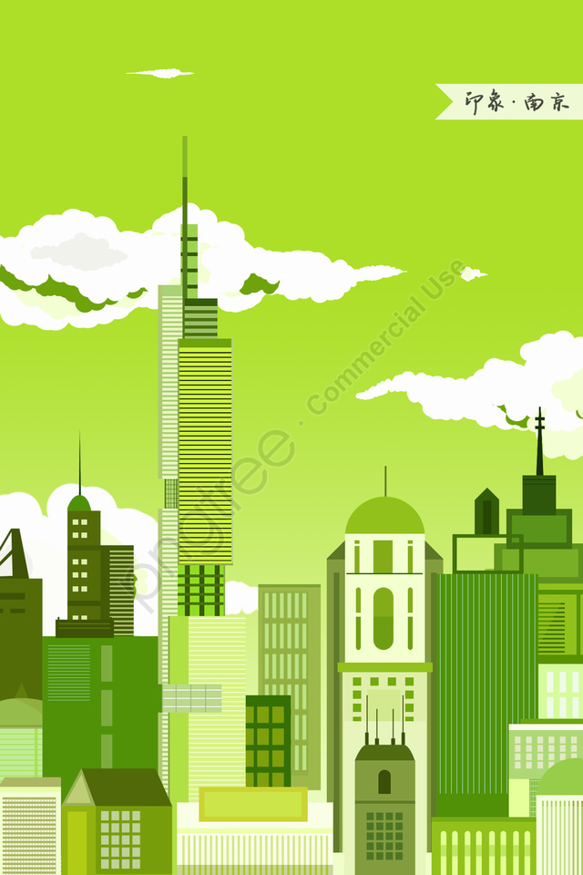 nanjing zifeng building impression landmark building, Landmarks, City Illustration, Skyline llustration image