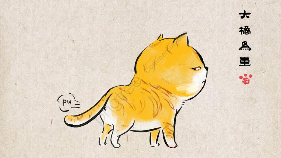 orange cat pet cute pet animal, Estimação, Desenhada, Ilustração llustration image