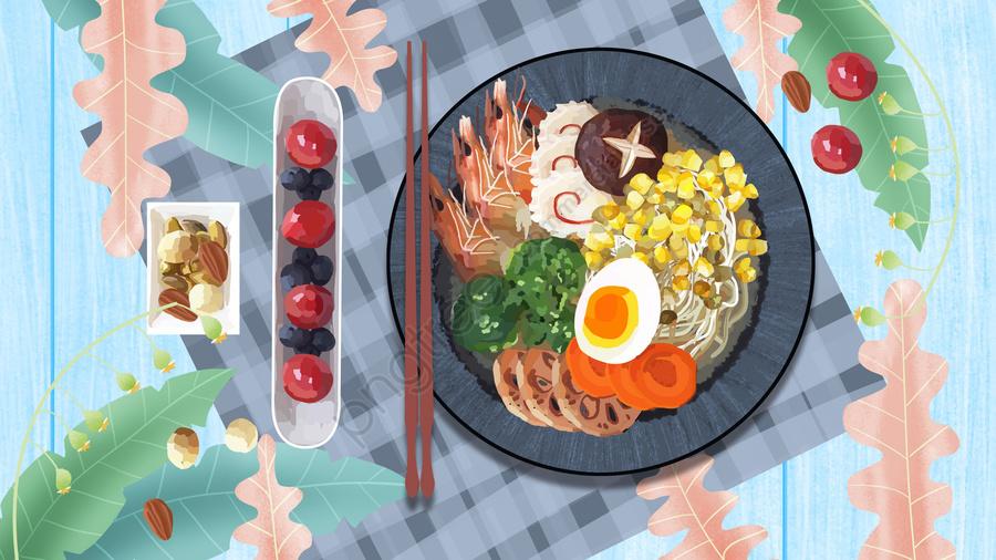 pasta food japanese-style cuisine, Illustration, Dishes, Plant llustration image