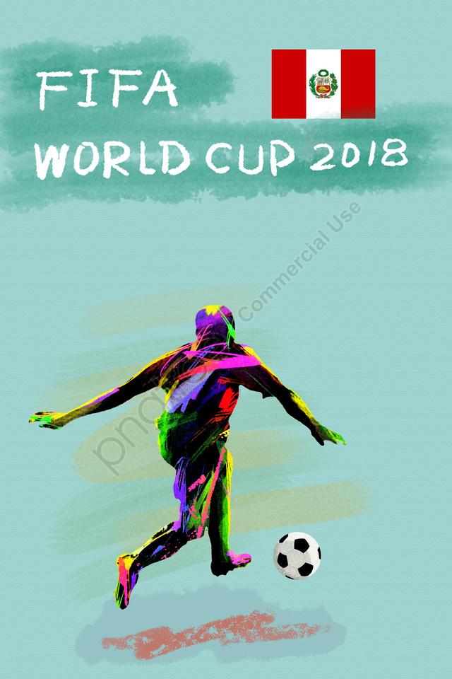 ペルーサッカーワールドカップ2018, Fifa, アスリート, プレイヤー llustration image