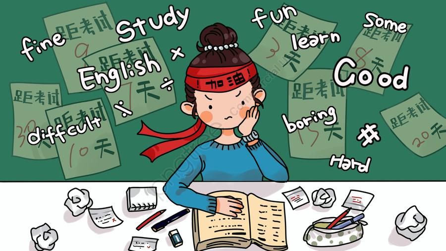 Desenho De Ilustração De Exame De Preparação, Contagem Regressiva, A Educação, Pós Graduação llustration image