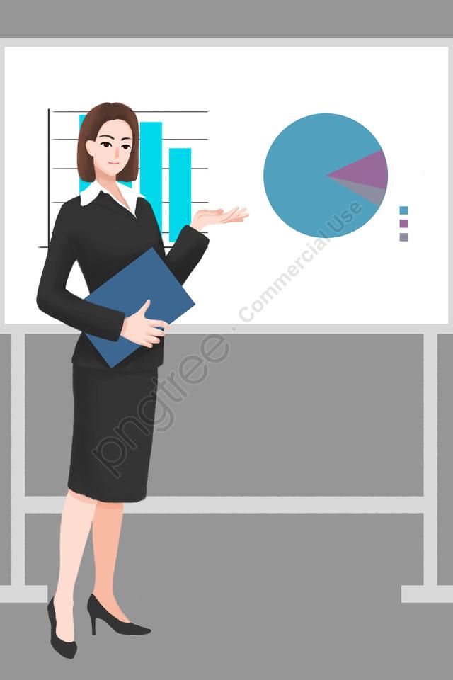 professional character professional woman workplace whiteboard, プロのキャラクター, プロの女性, 職場 llustration image