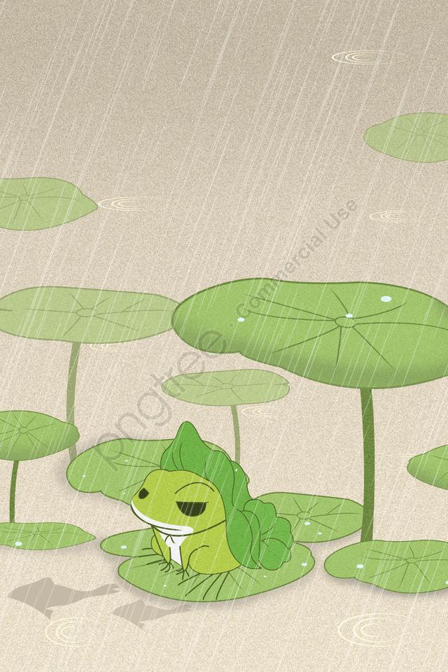 青明24太陽条件雨春の分点, 恐怖, 春の始まり, カエル llustration image