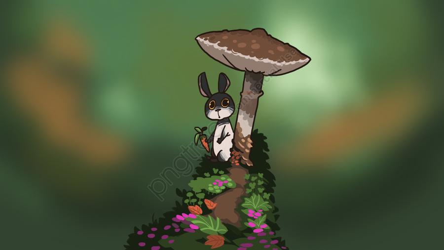 rabbit animal lovely cartoon, Hide, Rabbit, Animal llustration image